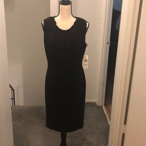 Stylish black dress.